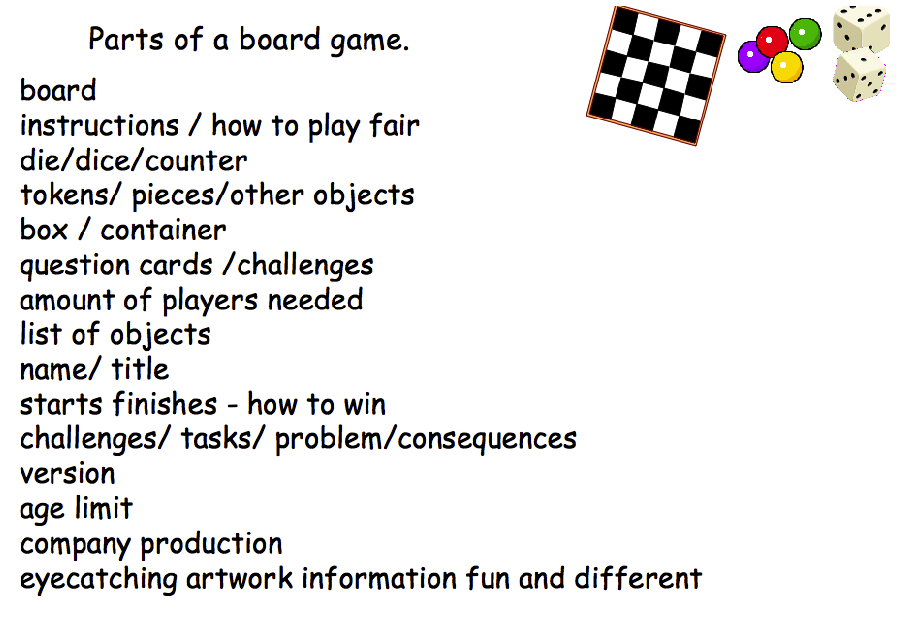 We began by playing some games and brainstorming what we thought games had.