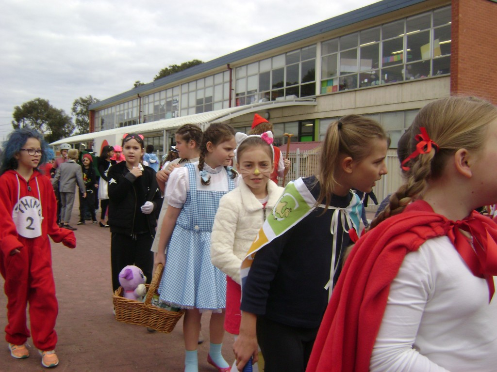 It was exciting walking down to our special Book Week assembly. Everyone looked fantastic.