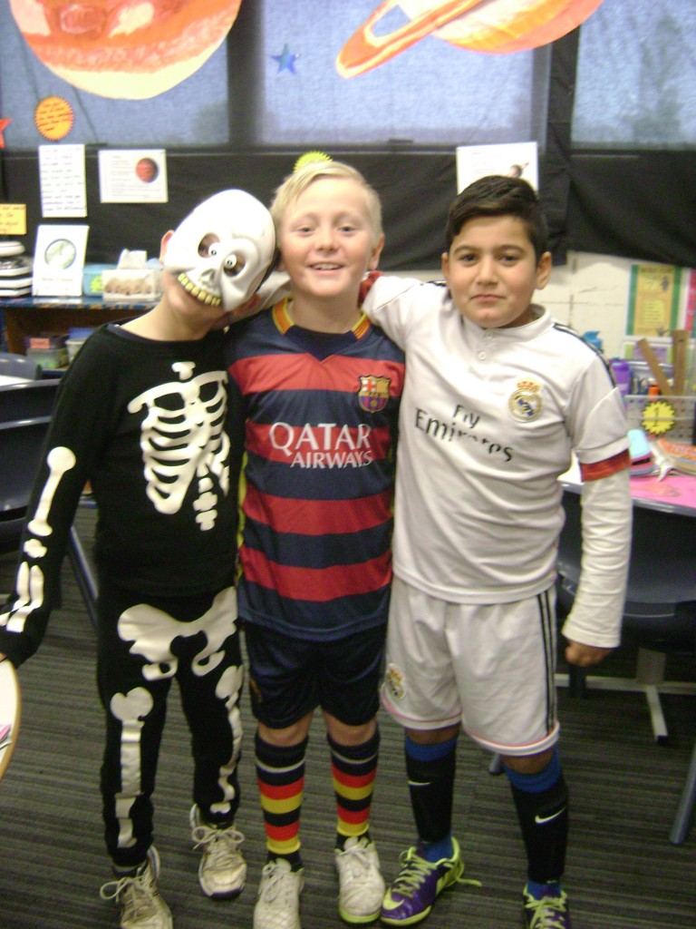 Skeleton, Specky Mcgee and Ronaldo