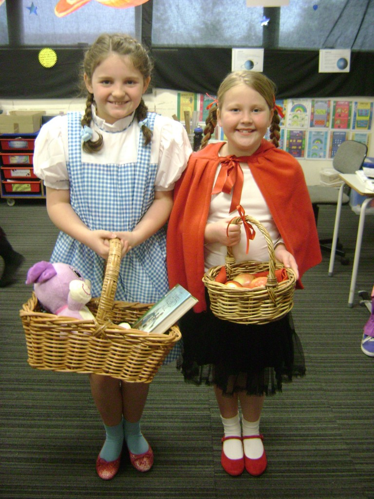 Dorothy and Little Red Riding Hood.