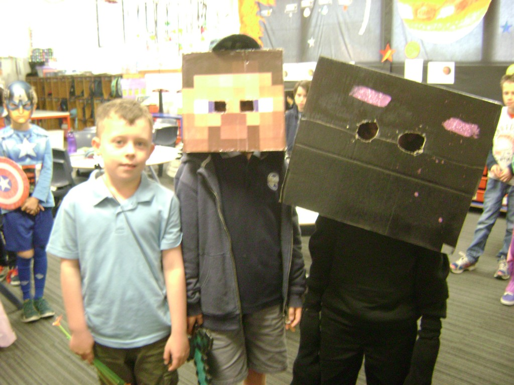 Tom, Steve, Enderman