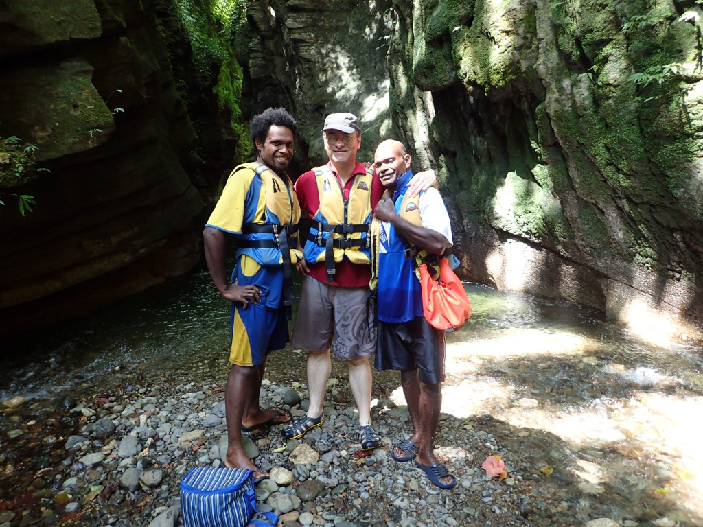 Our guides Tony and Paul with Peter