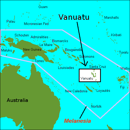 Vanuatu Islands map